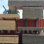 Oud gemaakte steigerplanken