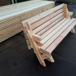 Bank en picknicktafel, 2 in 1
